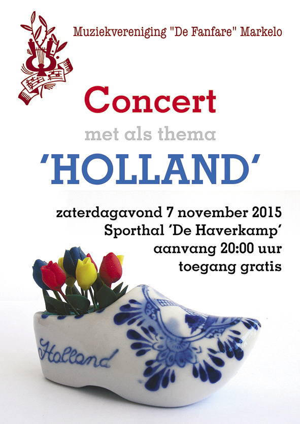 Concert holland Fanfare Markelo 7 november 2015