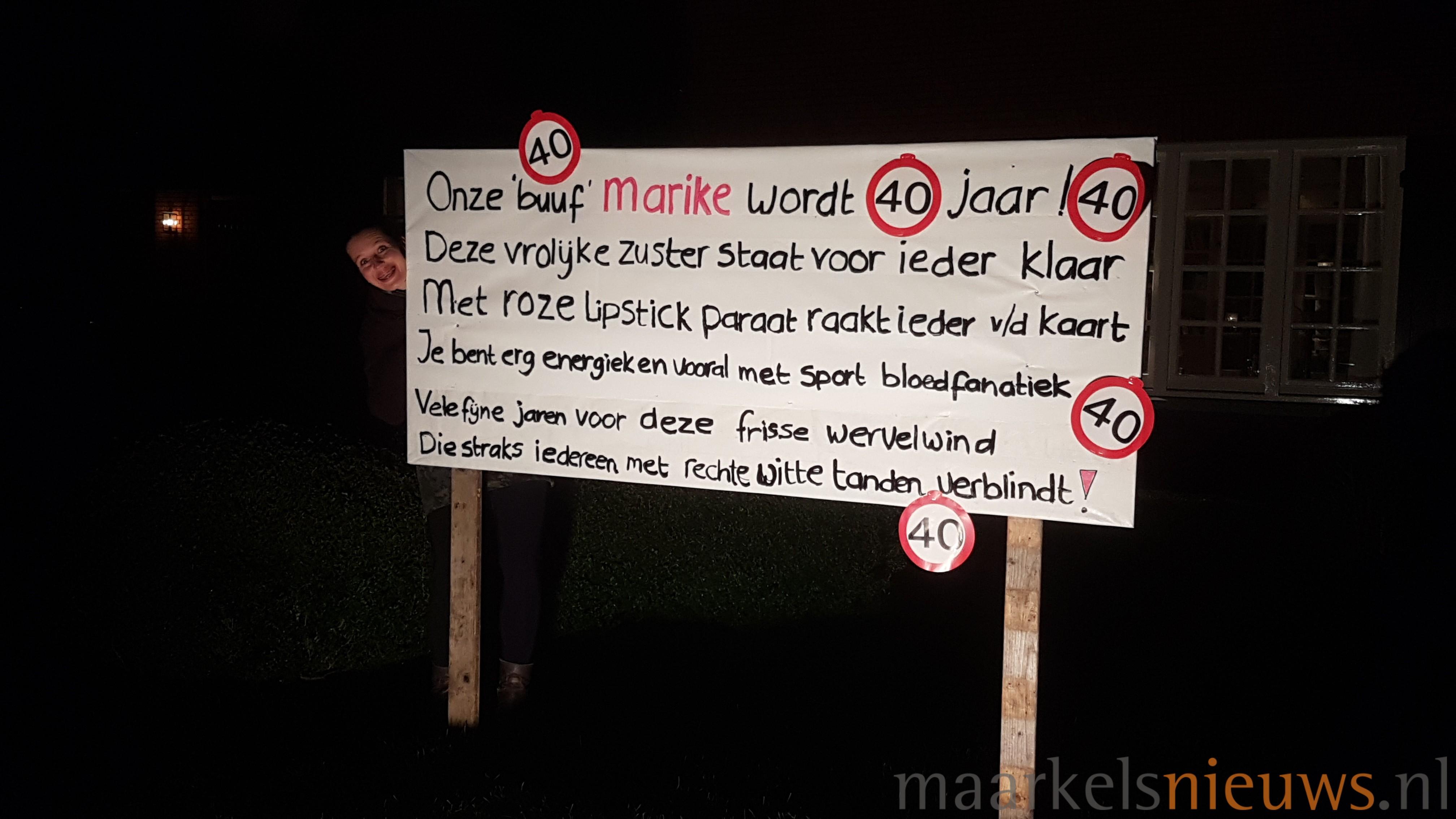 Wonderbaar Marike Woudenberg 40 jaar - Maarkelsnieuws.nl BD-99
